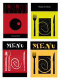 Menu illustration Royalty Free Stock Photos