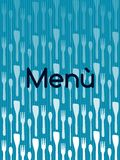 Menu with cutlery Royalty Free Stock Photos