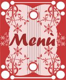 Colorful Menu with stylized flowers Royalty Free Stock Photo