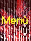 Original colorful Menu cover Stock Image