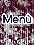 Artistic colorful Menu cover Royalty Free Stock Photography