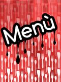 Menu Cover in red tones royalty free illustration