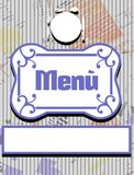 Menu cover in blue and white Royalty Free Stock Image