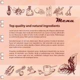 Menu ingredients Royalty Free Stock Images
