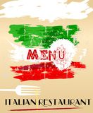 Menu  for italian restaurant, Royalty Free Stock Images