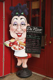 Menu at Italian restaurant in historic Little Italy in lower Manhattan Stock Photo