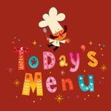 menu jest dzisiaj Zdjęcie Stock