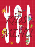 Menu kids Royalty Free Stock Images