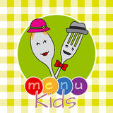 Menu kids Stock Photos