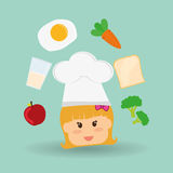 Menu Kids icon design, vector illustration, vector illustration Royalty Free Stock Photos