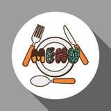 Menu Kids icon design, vector illustration, vector illustration Stock Photos