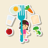 Menu Kids icon design, vector illustration, vector illustration Royalty Free Stock Photography