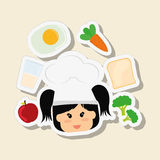 Menu Kids icon design, vector illustration, vector illustration Stock Photography