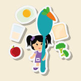 Menu Kids icon design, vector illustration, vector illustration Stock Images