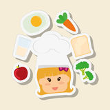 Menu Kids icon design, vector illustration, vector illustration Royalty Free Stock Images