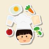 Menu Kids icon design, vector illustration, vector illustration Stock Photography