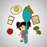 Menu Kids icon design, vector illustration, vector illustration Stock Photos
