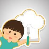 Menu Kids icon design, vector illustration, vector illustration Stock Images