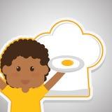 Menu Kids icon design, vector illustration, vector illustration Royalty Free Stock Photography