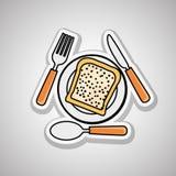 Menu Kids icon design, vector illustration, vector illustration Royalty Free Stock Images