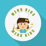 Menu Kids icon design, vector illustration, vector illustration Stock Photo