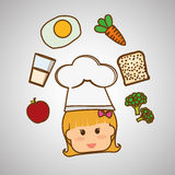 Menu Kids icon design, vector illustration, vector illustration Stock Photo