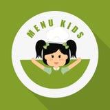 Menu Kids icon design, vector illustration, vector illustration Royalty Free Stock Photo