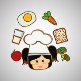 Menu Kids icon design, vector illustration, vector illustration Royalty Free Stock Photo