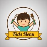 Menu Kids icon design, vector illustration, vector illustration Royalty Free Stock Image