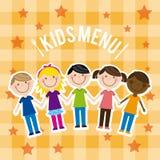 Menu kids royalty free illustration