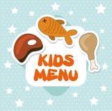 Menu kids stock illustration