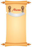 Menu with a knife Royalty Free Stock Photos