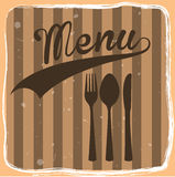Menu label Stock Image