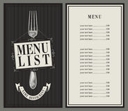 Menu list Royalty Free Stock Photography