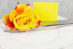 Menu, Love Menu. In yellow Royalty Free Stock Images
