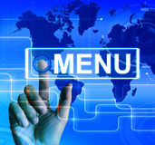 Menu Map Displays International Choices and Options Royalty Free Stock Photo
