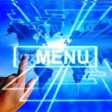 Menu Map Displays International Choosing and Options Royalty Free Stock Photography