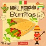 Menu messicano illustrazione vettoriale