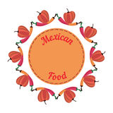 Menu mexicain de nourriture Illustration Libre de Droits