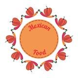 Menu mexicain de nourriture Images stock