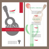 Menu of Mexican or Latin American Restaurant Royalty Free Stock Photography