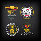 Menu mexican logo and badge design. Stock Images