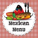 Menu mexicano Foto de Stock Royalty Free