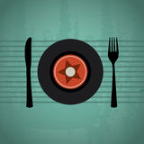Menu music Stock Photos
