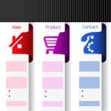 Menu navigation labels - web template Royalty Free Stock Photo