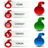 menu nawigaci szablonu sieć Obrazy Stock