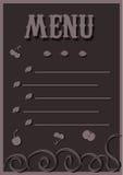 Menu nei toni del cioccolato Fotografie Stock Libere da Diritti