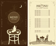 Menu for the night cafe Royalty Free Stock Photos