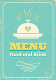 Menu no estilo retro Foto de Stock Royalty Free