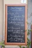 Menu no quadrado de Anfiteatro da praça; Lucca Foto de Stock